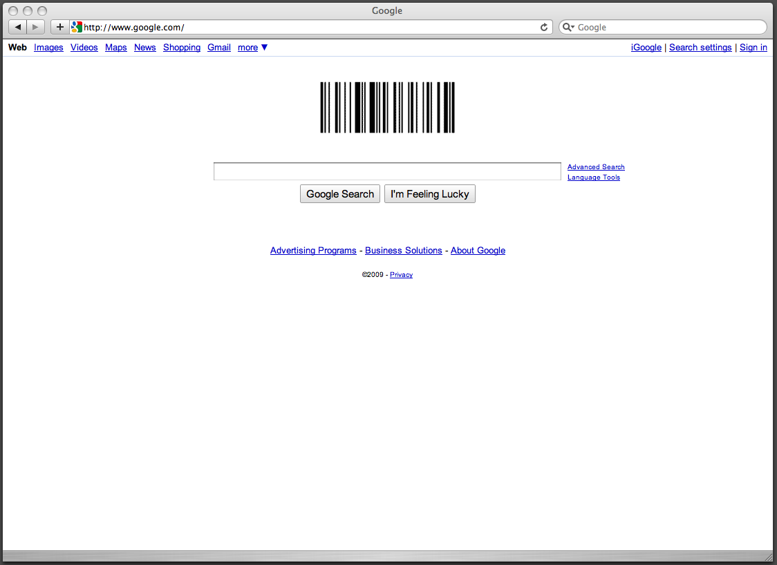 google barcode logo. Google logo should have